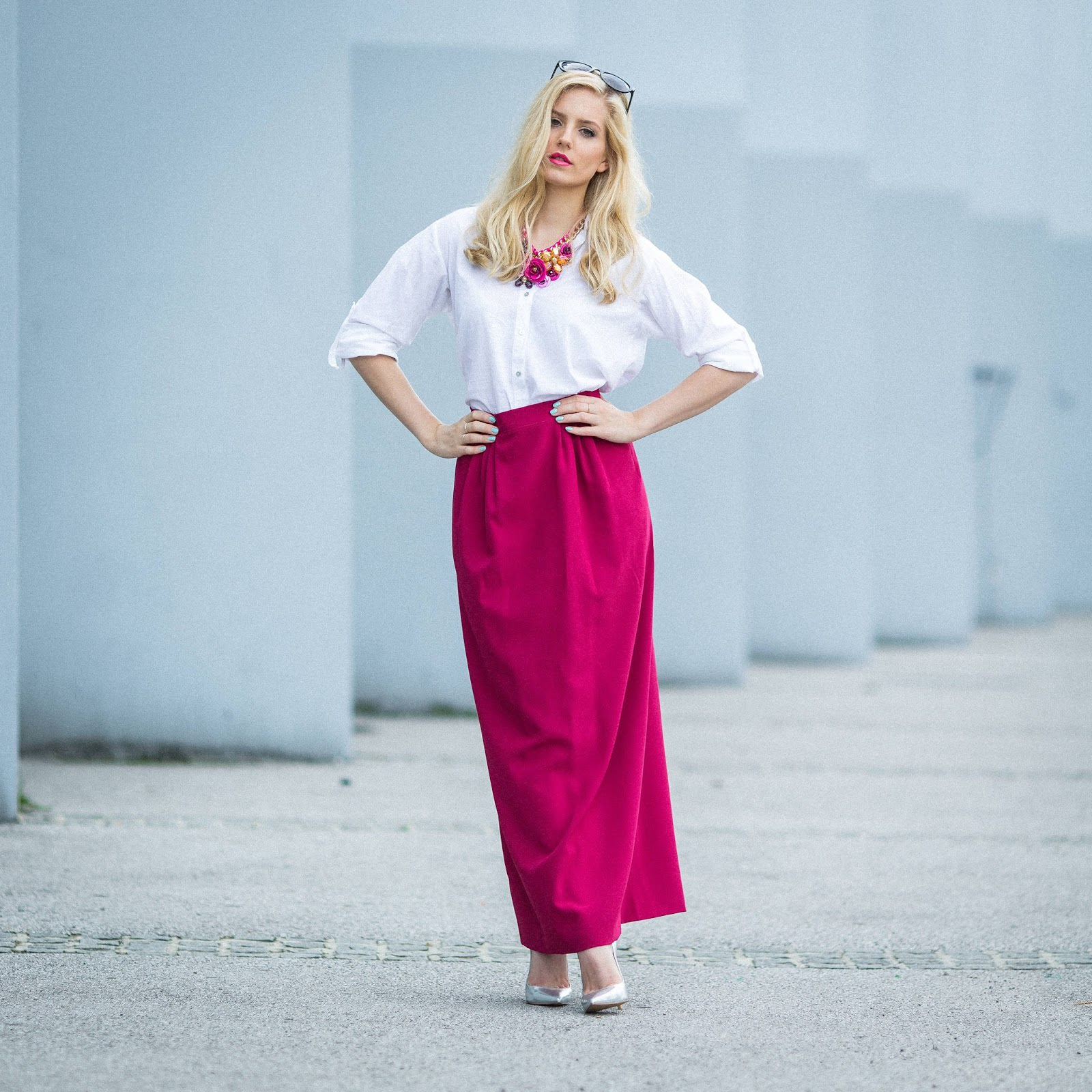 maxi skirt fashion blogger outfit