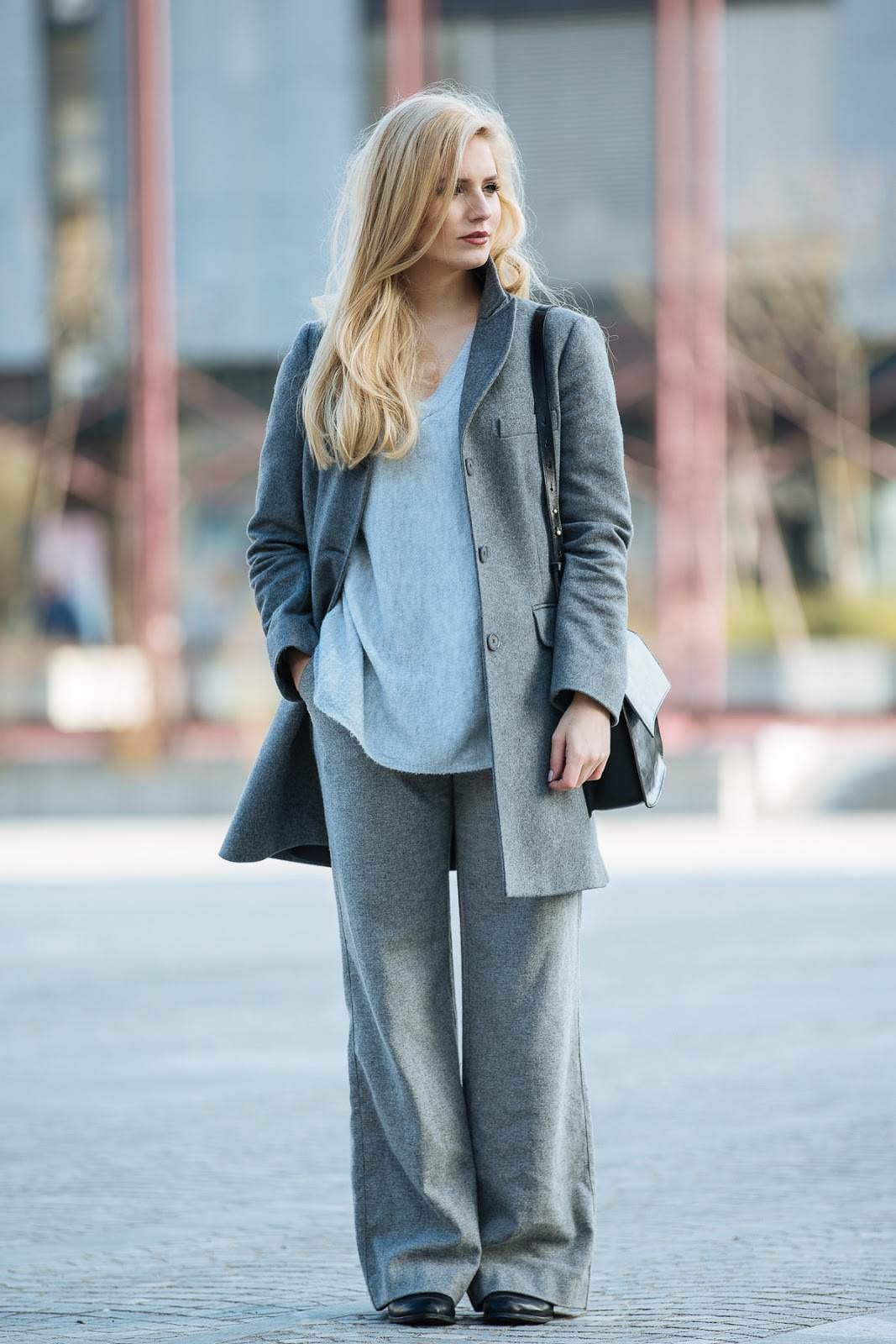 all grey outfit