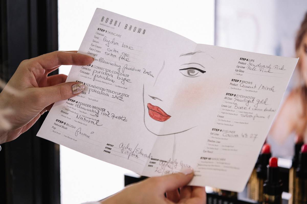 Bobbi Brown make up list