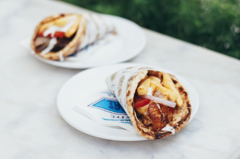 Mykonos travel guide food gyros