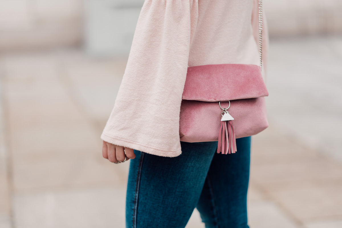 soft pink outfit