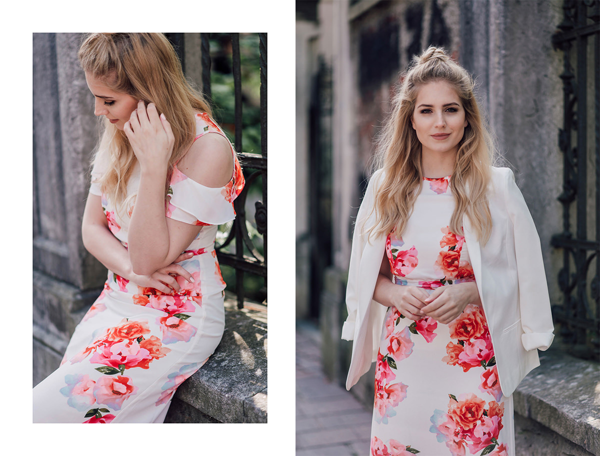 floral dress outfit