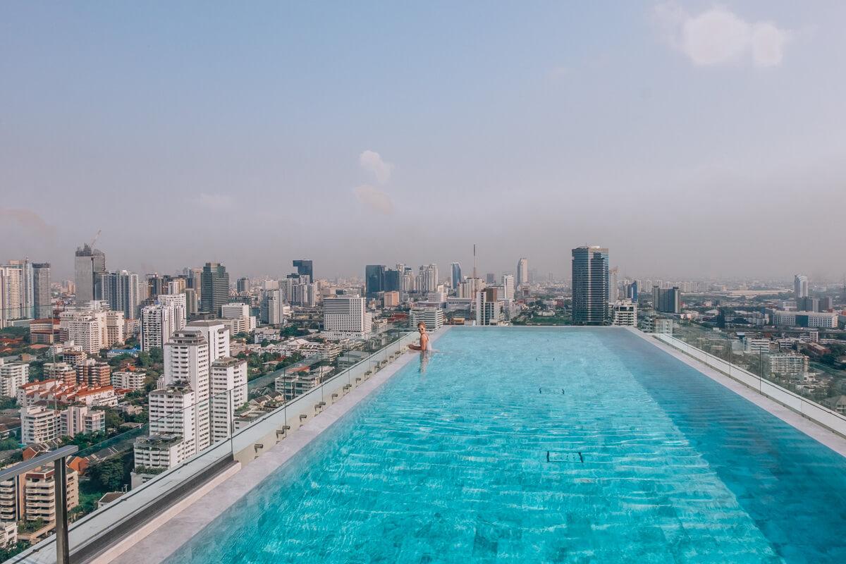 rooftop infinity pool Bangkok